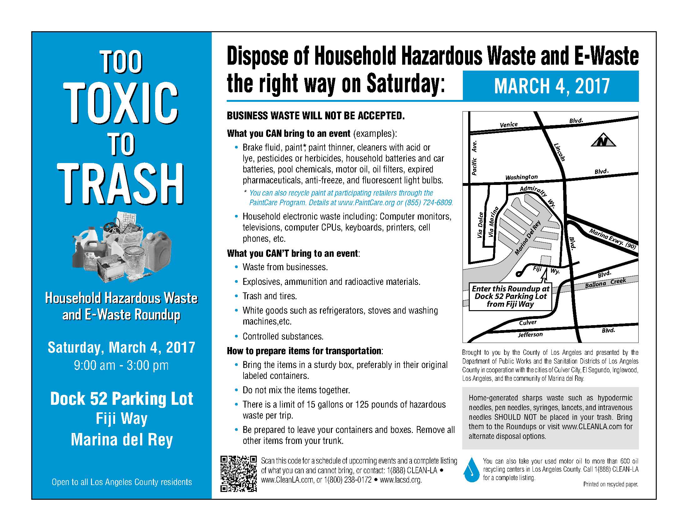 household hazardous waste collection flier