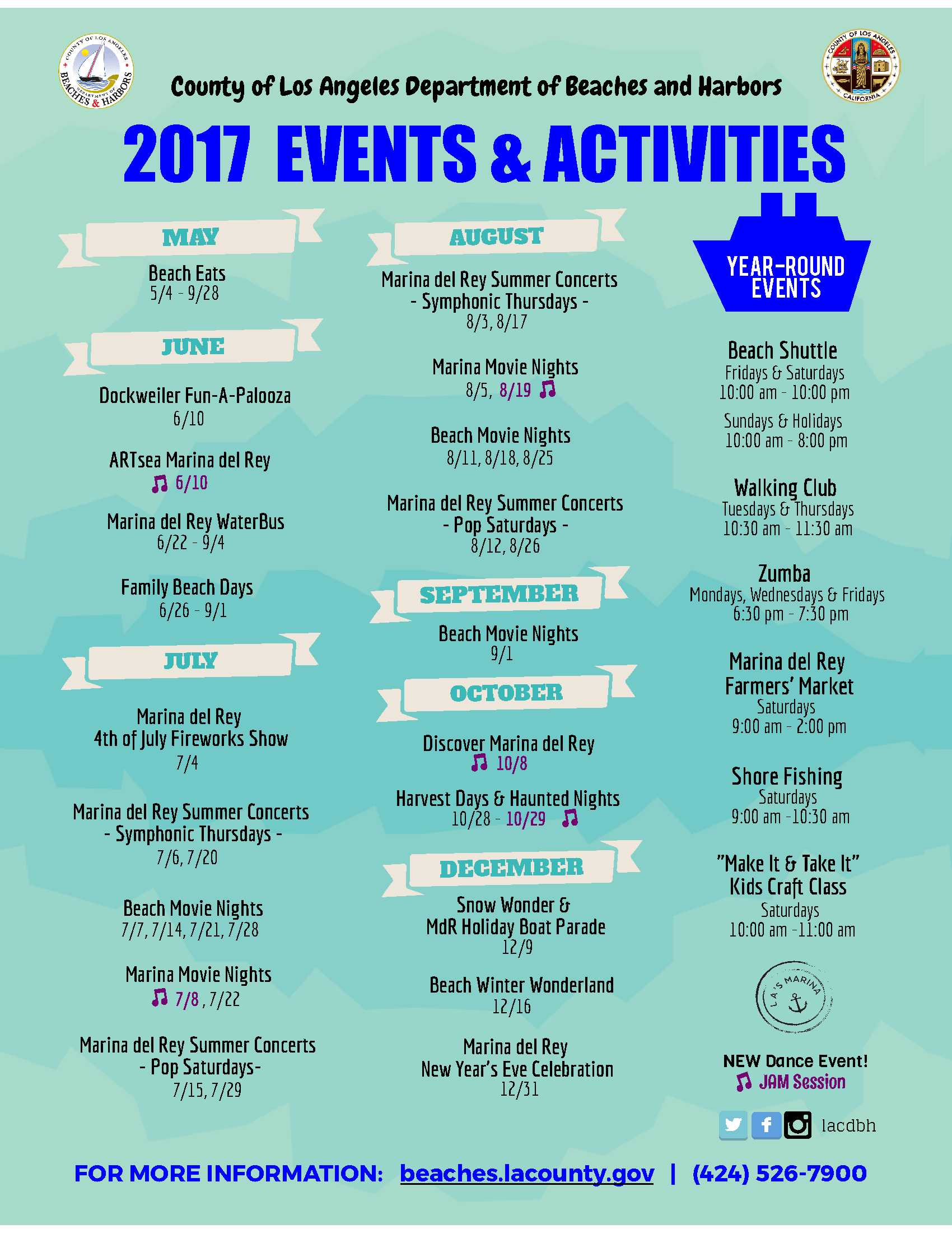 2017 DBH EVENTS AND ACTIVITIES