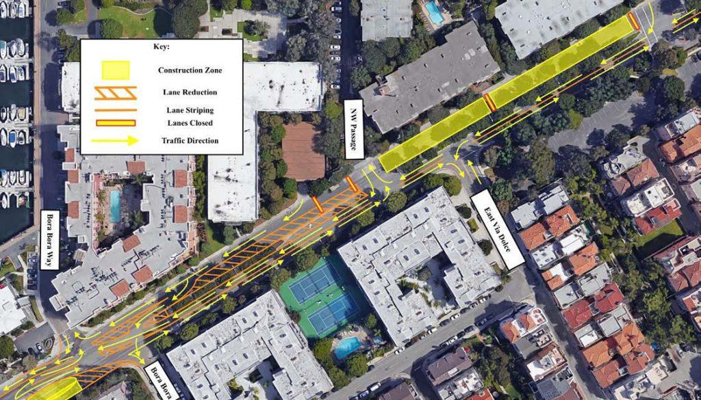 Via Marina Traffic Control Plan