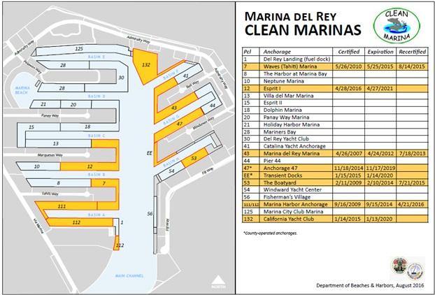 Clean Marinas Map