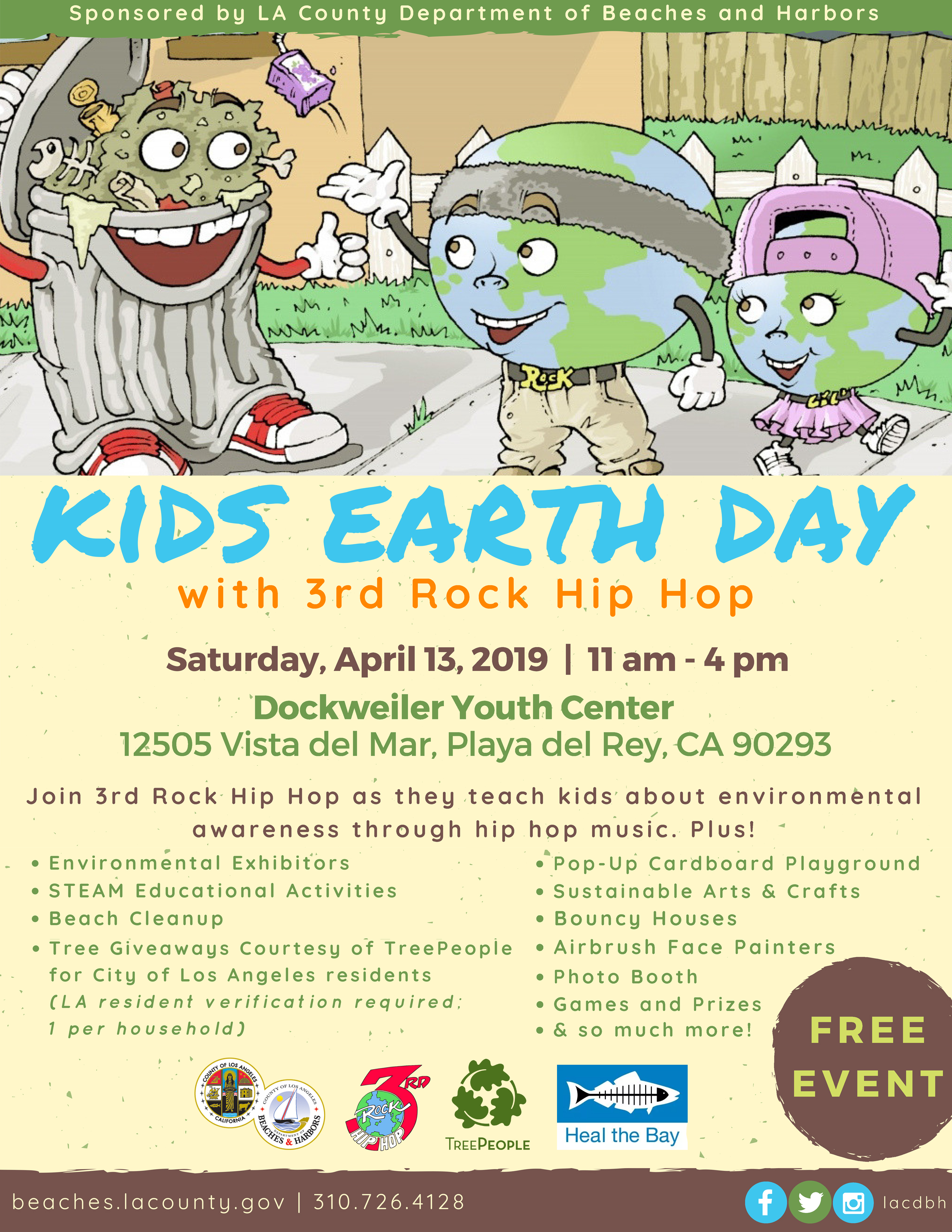 2019 Kids Earth Day Event Flyer