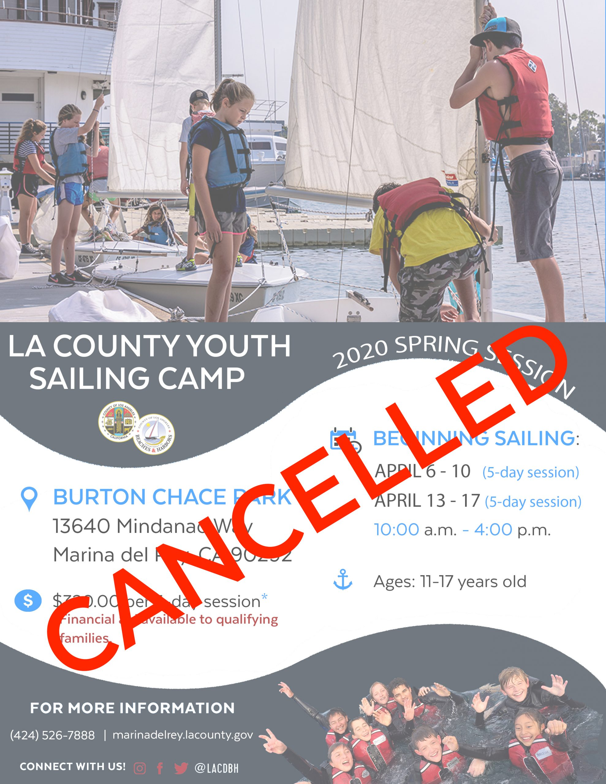 2020 Spring Youth Sailing Camp CANCELLED