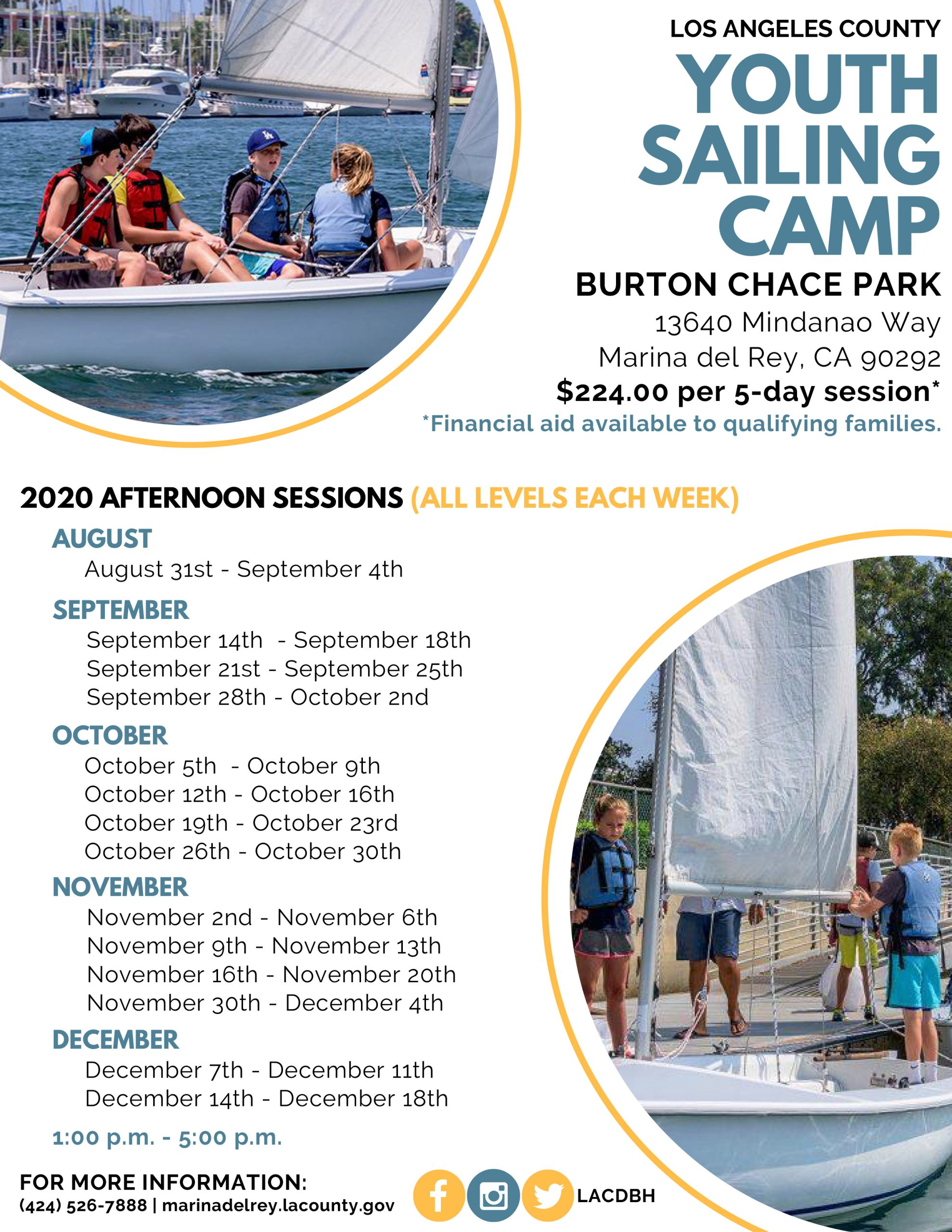 2020 Afternoon Youth Sailing Camp