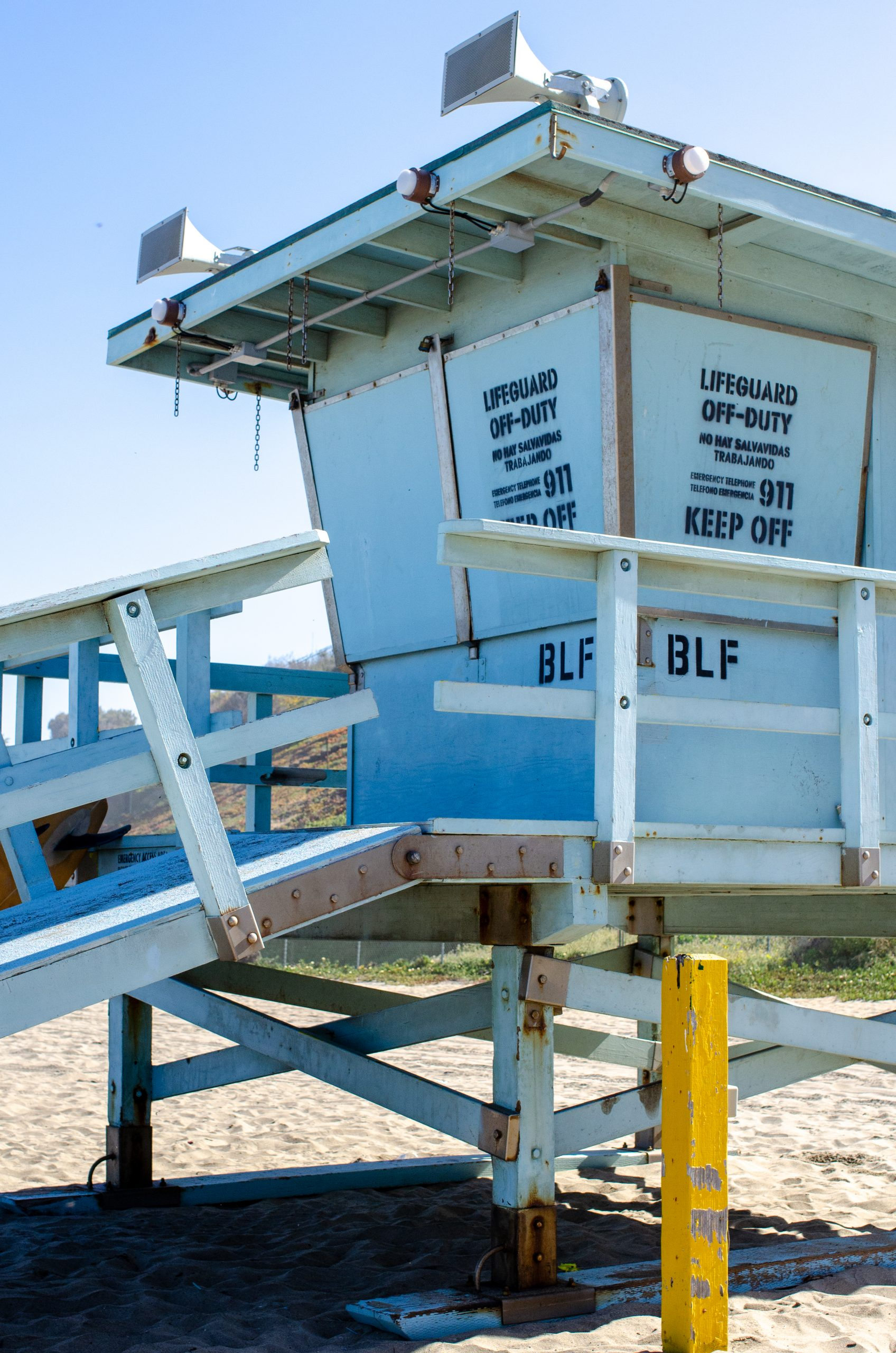 Beach Emergency Evacuation Lights System installed on the Bluff Lifeguard Tower