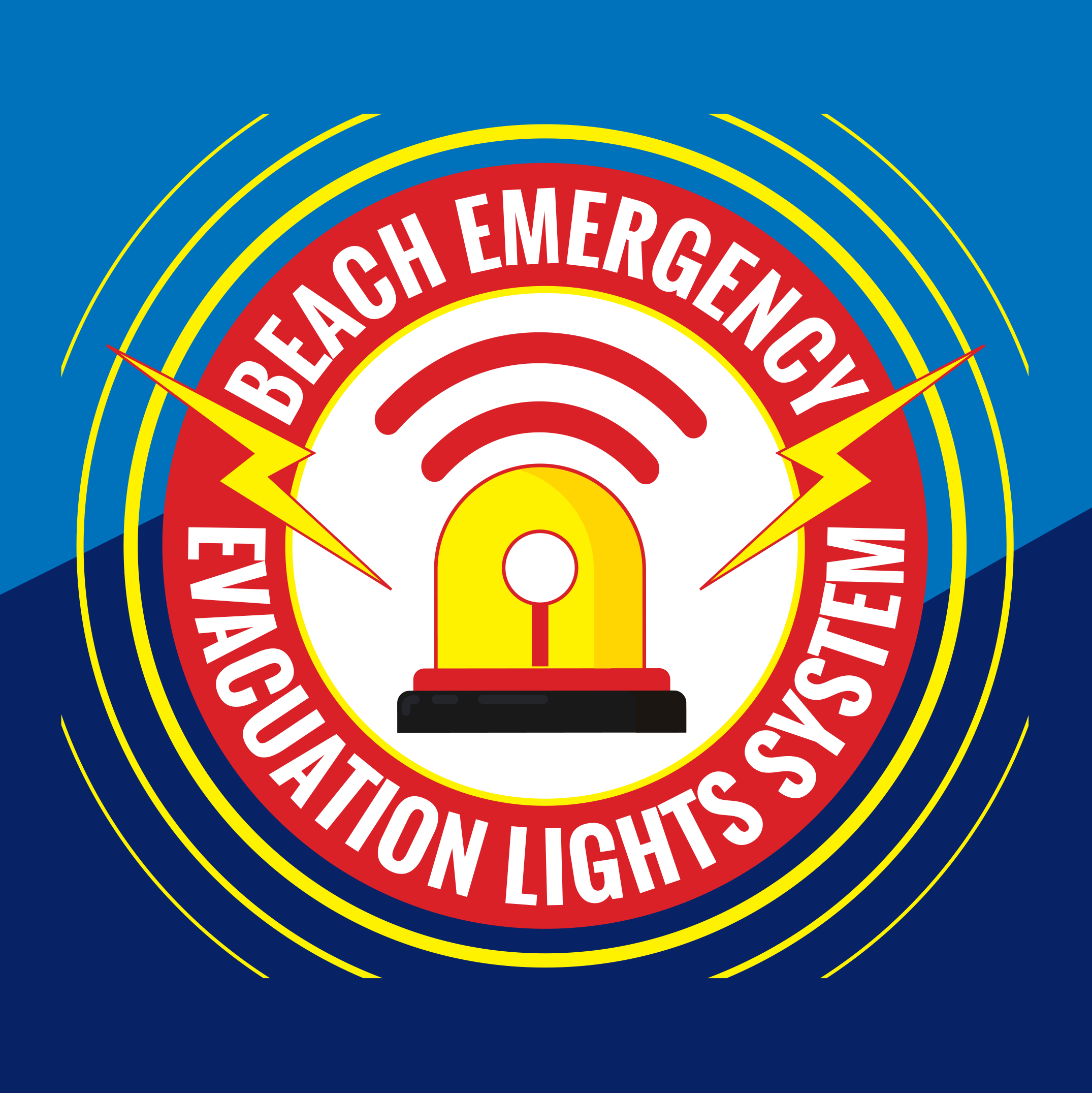 Logo for Beach Emergency Evacuation Lights System
