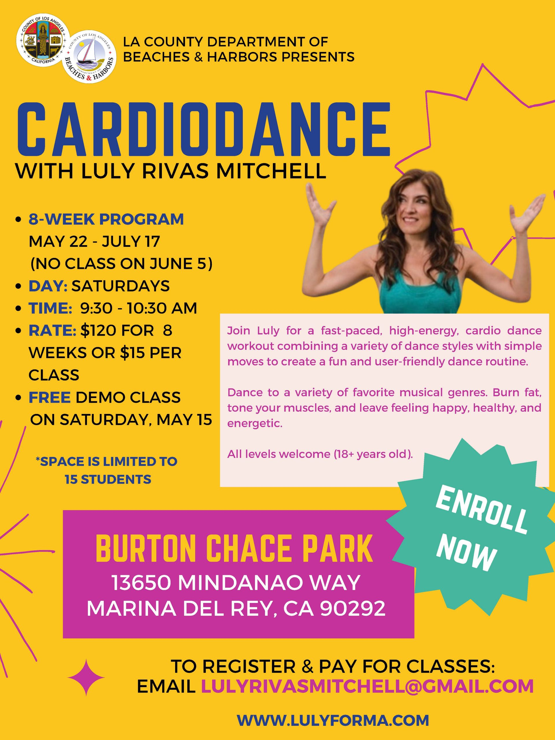 Cardio Dance at Chace Park Flyer