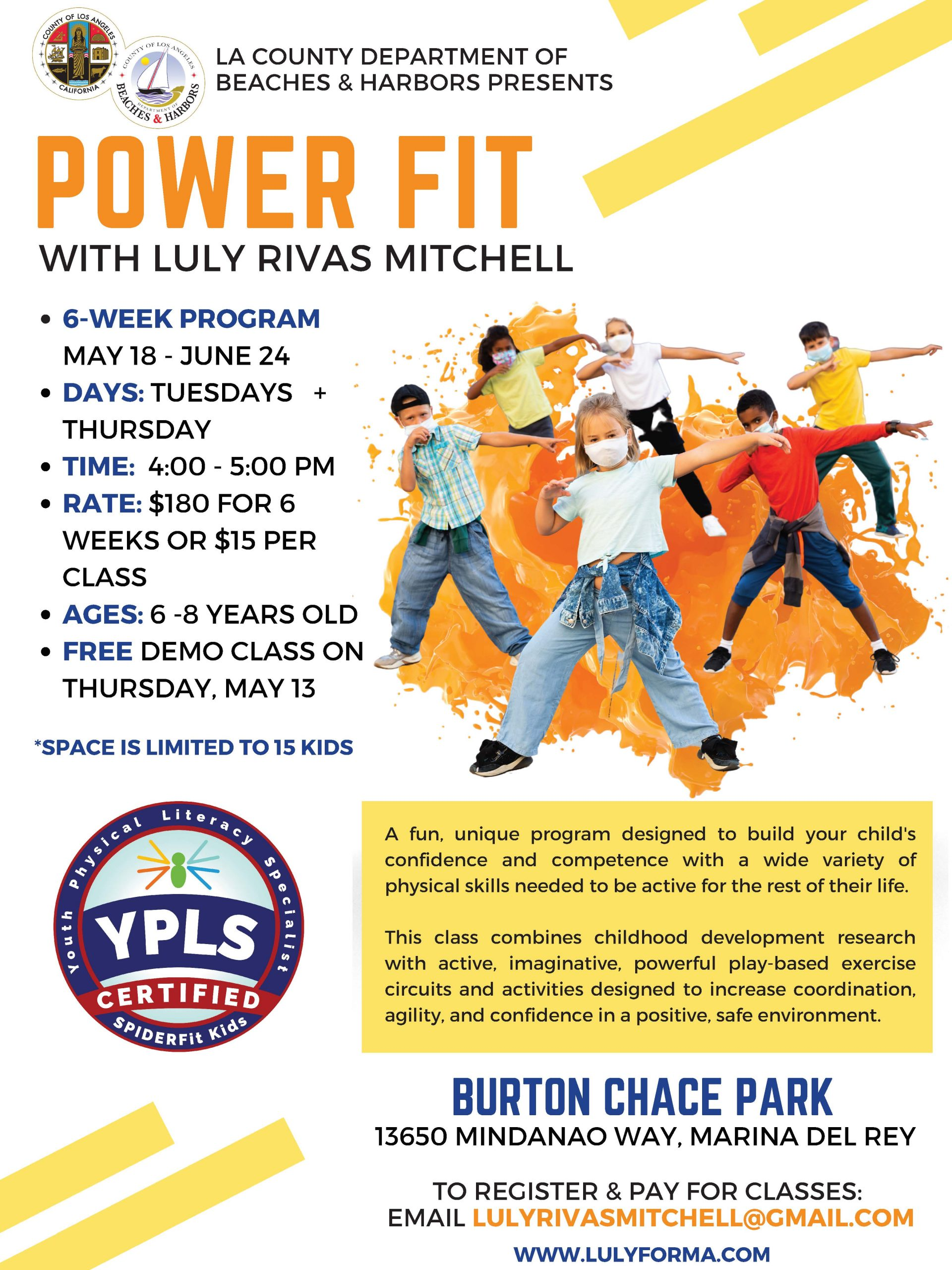 Kids Power Fit Class at Chace Park Flyer