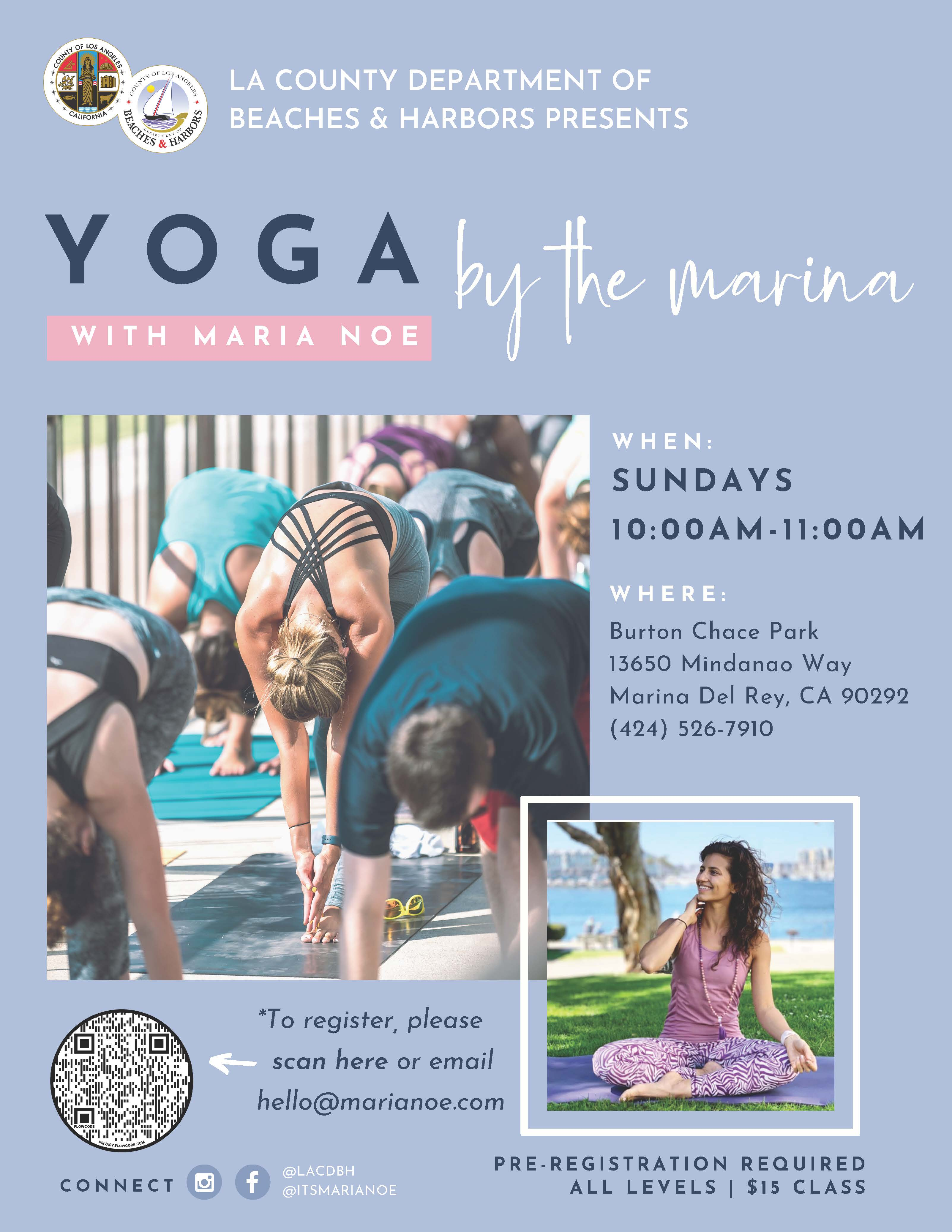 Yoga at Chace Park Flyer