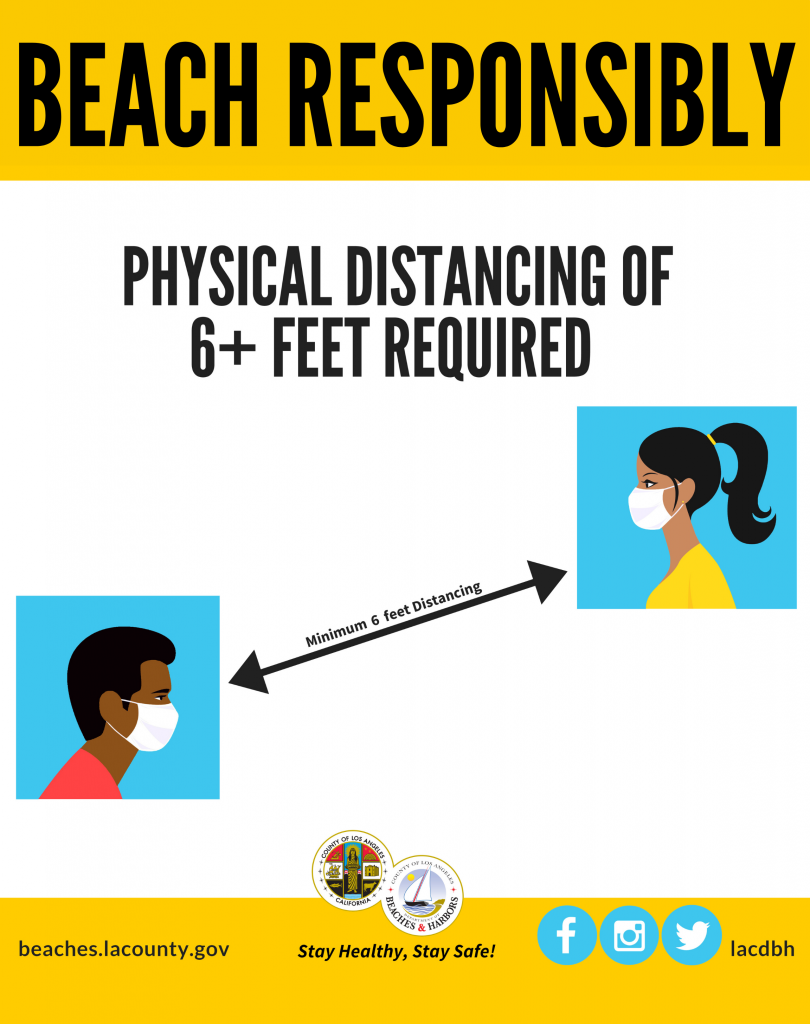 Beach Responsibly - Physical distancing of 6+ feet required